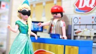 AllToyCollector Frozen Elsa EATS DAIRY QUEEN DQ Anna, Rapunzel, Ariel Magiclip MiWorld Review Disney