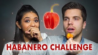 German eats a HABANERO PEPPER for the first time!!