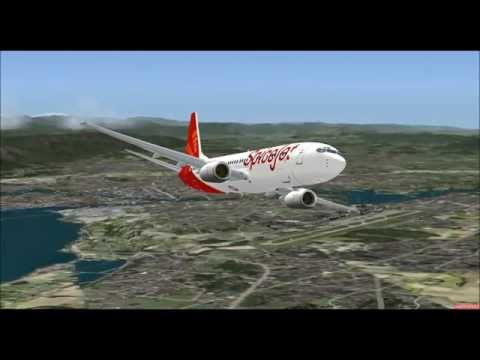BOEING 737 800 VT SPJ SPICEJET TAKE OFF FROM GENEVA