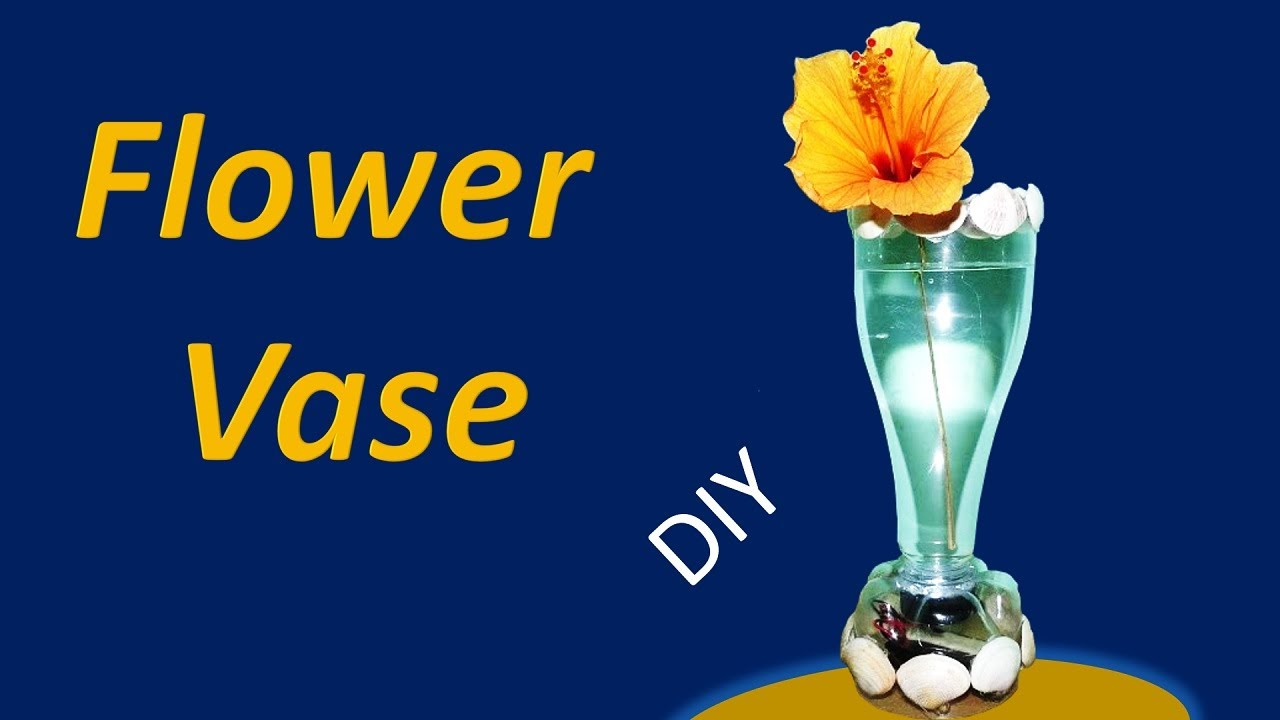 how to make a flower vase from a plastic bottle with
