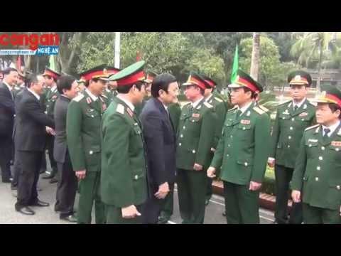 Chủ tịch nước Trương Tấn Sang thăm và chúc Tết tại Nghệ An