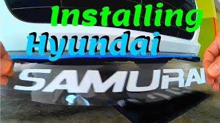 Hyundai Accent / Solaris Install Samurai lower lip
