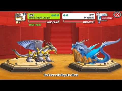 Watch Dragon City: White Knight Dragon Battle & Skills