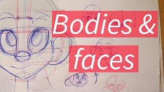 ✩ How I draw bodies & faces ✩