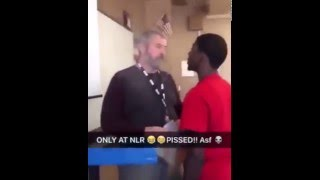 Student blows smoke in teacher
