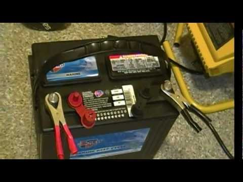 Harbor Freight 750W power inverter model 66817 and deep cycle marine battery tested