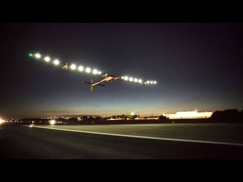 Solar plane completes historic flight across US