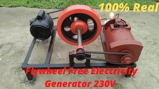 Flywheel Free Electricity Generator How To Make Free Energy Generator 230v With 5kw Alternator Motor