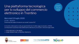 Una piattaforma tecnologica per lo sviluppo del commercio elettronico in Trentino