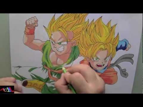 Dibujando a: Trunks y Goten