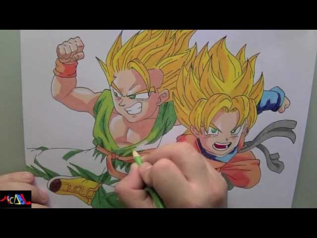 Dibujando a: Trunks y Goten