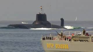 "Nuclear Battle Cruiser""Peter the Great"", SSBN""Dmitry Donskoy"" in the Danish straits"