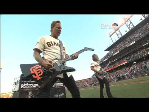 Metallica - Star Spangled Banner 2013 Giants vs Dodgers