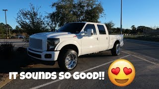6.7 Powerstroke with 5 inch straight pipe exhaust! (s467 turbo)