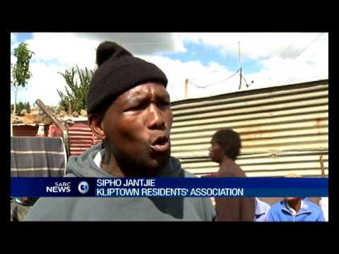 As the clouds lifted on residents in Kliptown, Soweto mopped up.
