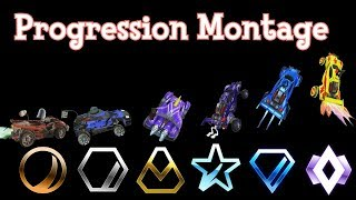Bronze to Champion - A Rocket League Progression Montage