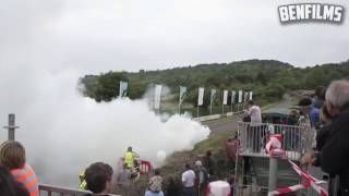 Drift car doing a rolling burnout
