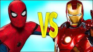 SPIDERMAN VS IRONMAN   СУПЕР РЭП БИТВА   Человек-Паук мультик ПРОТИВ Железный Человек смотреть
