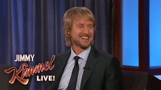 Jimmy Kimmel Gives Owen Wilson a Birthday Gift