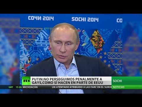"""Vladímir Putin: """"En Rusia no se encarcela a nadie por ser homosexual"""""""