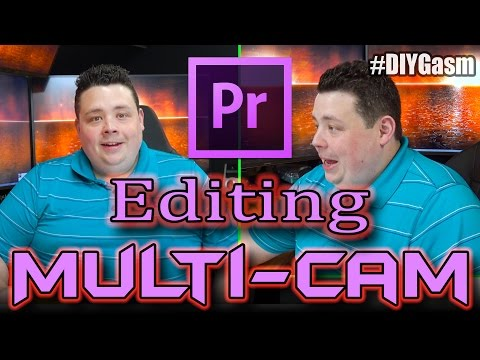 Making YouTube Videos with Multiple Camera Angles! Adobe Premiere Tutorial.