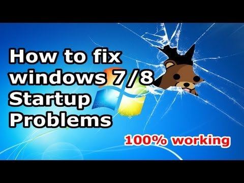 How to Fix Windows 7 / windows 8 Start-up Problems  - Blackscreen - Bootloop [HD]