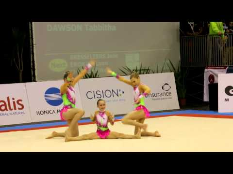 Gymnastics MIAC 2014 AG1 WG Dynamic GBR RIchmond