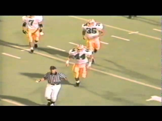 Oregon punter Tommy Thompson 50 yard punt downed on the 5 vs. Utah 9-21-91