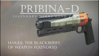 Destiny 2 - Pribina D - Awful Hakke Hand Cannon! - PVP Gameplay Review