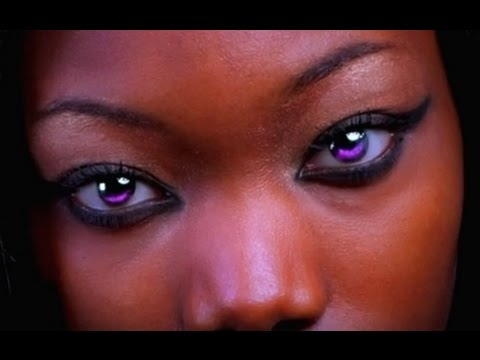 Black People With Purple Eyes Youtube