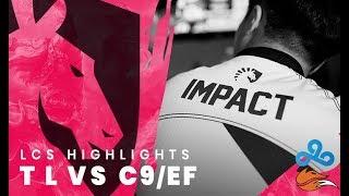 Team Liquid LoL W4  - TL vs C9/EF Highlights