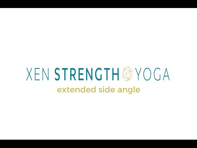 Extended Side Angle + Weights - Xen Strength Yoga (yoga with weights)