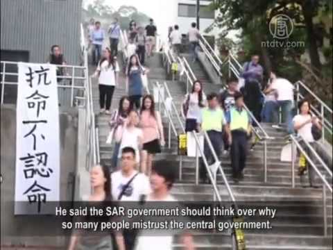 Leung Chun-ying's Criticism of Hong Kong Student .