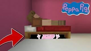 PEPPA PIG APPARAIT SOUS MON LIT DANS MINECRAFT !! 😰 | (Base Secrète Troll)
