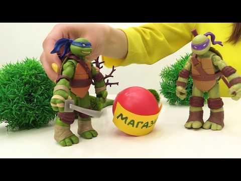 Черепашки Ниндзя играют в Toy Club. Видео для детей