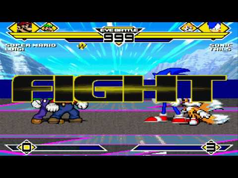 Super Mario and Luigi vs SonicV2 and Tails MUGEN Battle!!!