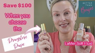DRUGSTORE DUPE for LaMer Soft Fluid Foundation   Save over $100 with this DUPE!