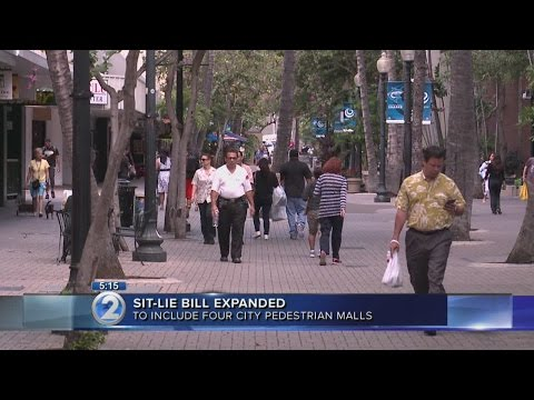 Mayor signs pedestrian mall sit-lie ban into law