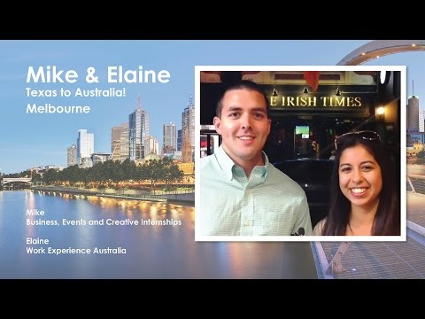 Business, Events & Creative Intern Mike and Work Experience Australia participant Elaine discuss their time in Australia, and the differences between the land of Oz and the Lone Star State.