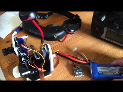 Turnigy 9X radio pan tilt (for head tracking googles) fpv setup guide and some flight...
