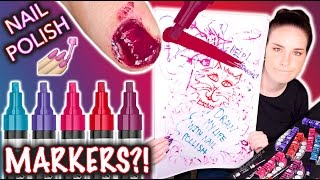 Nail Polish MARKERS?! Don't draw my life