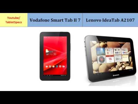 Vodafone Smart Tab II 7 or Lenovo IdeaTab A2107, features compared