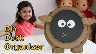 DIY | How to Make a Desk Organizer from Cardboard for Kids