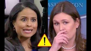 Sarah Sanders Utterly Destroys Reporter's Fake Concern For Classified Information!