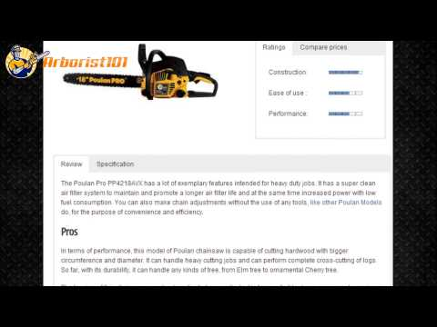 Poulan Pro PP4218AVX 18 in  42 cc gas chainsaw review
