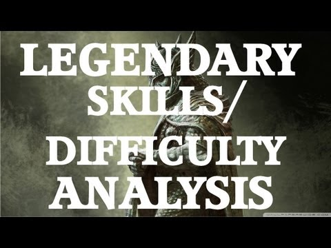 Skyrim: Legendary Skills/Difficulty Analysis (1.9 Update)
