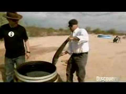 Mythbusters - Shooting Fish in A Barrel