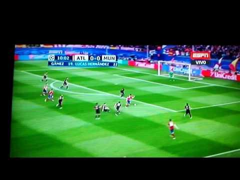 Gol de saul Atlético de madrid contra el bayer