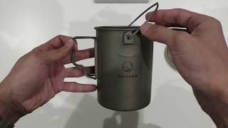 Valtcan Titanium 900ml Pot with Bail Handle and Foldable Handles