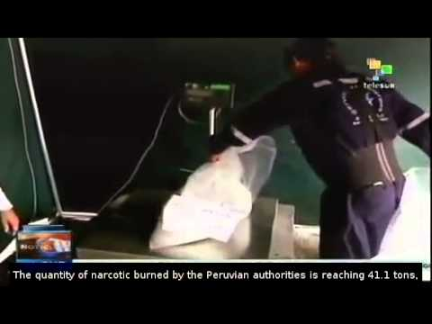 Peruvian authorities burn 5 tons of narcotics